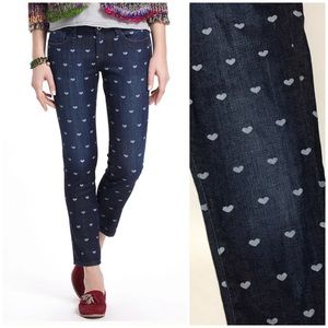 Anthropologie AG The Stevie Ankle Hearts Jeans
